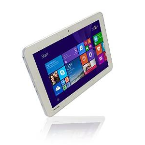 Tablet especial plateada con Windows