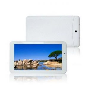 Tablet de color blanco